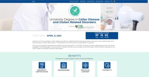 University Degree in Celiac Disease and Gluten Related Disorders